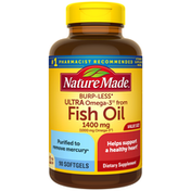 Nature Made Burp-Less Ultra Omega-3†† from Fish Oil 1400 mg Softgels