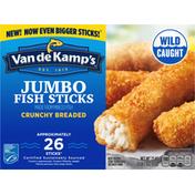 Van de Kamp's Fish Sticks, Jumbo, Crunchy Breaded