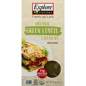 Explore Cuisine Lasagne, Organic, Green Lentil