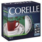 Corelle Dinnerware, Durable Vitrelle Glass, Winter Holly, 16 Piece