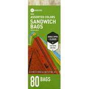 Southeastern Grocers Sandwich Bags, Assorted Colors