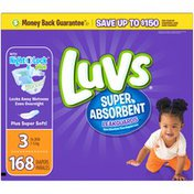 Luvs Super Absorbent Leakguards Newborn Diapers Size 3 168 count  Diapers