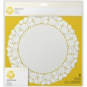 Wilton Lacy Floral 10-Inch Bright White Paper Doilies, 10-Count