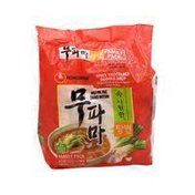 Nongshim Spciy Vegetable Noodle Soup (Mu Pa Ma Tang Myun) Family Pack