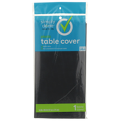 Simply Done Plastic Table Cover, Black