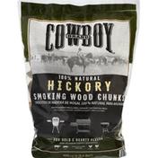 Cowboy Smoking Wood Chunks, Hickory