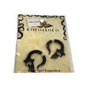 Coco Loco Jewelry Black Wood Small Sun Spiral Earrings