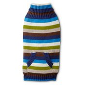 Wag-a-tude Blue Striped Dog Sweater Medium