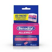 Benadryl Allergy Ultratabs Tablets, Go Packs