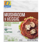 O Organics Burger Patties, Organic, Mushroom & Veggie