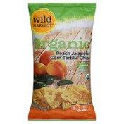 Wild Harvest Tortilla Chips, Organic, Corn, Peach Jalapeno