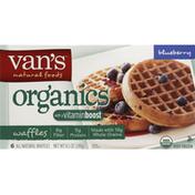 Van's Simply Delicious Whole Grain Organic Waffles, Blueberry, Frozen