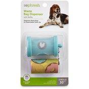 SoPhresh Q117 Teal Waste Bag Dispenser