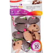 SmartyKat Cat Toy, Skitter Critters, Value Pack