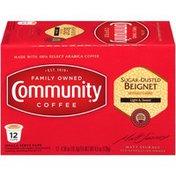Community Coffee Sugar Dusted Beignet Single-Serve Cups Coffee