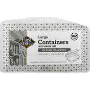 First Street Containers, Clear Plastic, Large