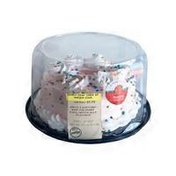Meijer Strawberry Whipped Icing Iced Angel Food Cake