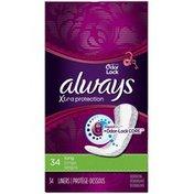 Always Xtra Protection Always Xtra Protection with Odor-Lock Daily Liners, Long 34 Count Feminine Care