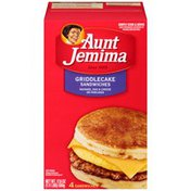 Aunt Jemima Sausage Egg & Cheese on Pancakes Griddlecake Sandwiches