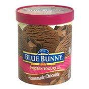 Blue Bunny Fat Free Frozen Yogurt, Homemade Chocolate