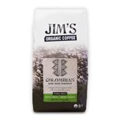 Jim's Organic Coffee Colombian Santa Marta Montesierra, Medium Roast Whole Bean Coffee