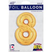 Betallic Balloon, Foil, Gold, 40 Inch