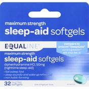 Equaline Sleep-Aid, Maximum Strength, 50 mg, Softgels