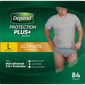 Depend Underwear, Ultimate Absorbency, L