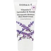 DERMA E Hand Cream, Therapeutic Moisture Shea, Vitamin E, Lavender & Neroli