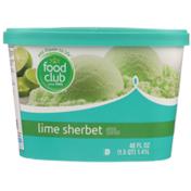Food Club Lime Sherbet