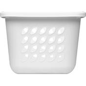 Sterilite Laundry Basket, 1.5 Bushel, White