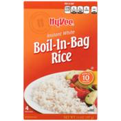 Hy-Vee Instant White Boil-In-Bag Rice