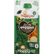 Happy Tot Veggie & Fruit Blend, Spinach, Apples, Sweet Potatoes & Kiwi, 8 Pack