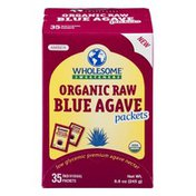 Wholesome Sweeteners Blue Agave Packets Organic Raw Amber - 35 CT