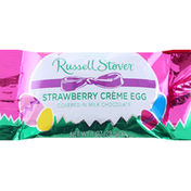 Russell Stover Creme Egg, Strawberry, Covered in Milk Chocolate