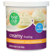 Food Club Buttercream Creamy Frosting