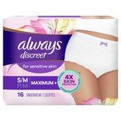 Always Discreet For Sensitive Skin Underwear S/M Maximum Plus