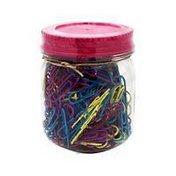U Brands Small Retro Mason Jar Assorted Paper Clips