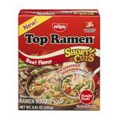 Nissin Top Ramen Soup Short Cuts Beef Flavor