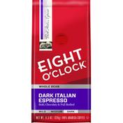 Eight O'Clock Coffee Whole Bean Dark Italian Espresso Coffee