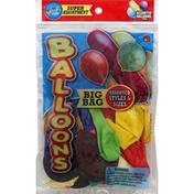 Ja-Ru Inc. Balloons, Assorted Styles & Colors, Big Bag