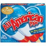 Kemps Cherry Lemon Blue Raspberry All American Pops