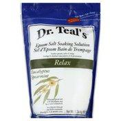 Dr. Teal's Soaking Solution, Epsom Salt, Relax, Eucalyptus Spearmint