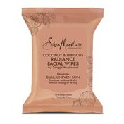 SheaMoisture Radiance Facial Wipes Coconut And Hibiscus