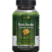 Irwin Naturals Brain Awake, Liquid Soft-Gels