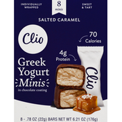 clio Yogurt Bars, Greek, Salted Caramel, Minis