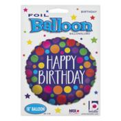 """Betallic Foil Balloon 18"""" Happy Birthday"""