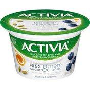 Activia Less Sugar & More Good Blueberry & Cardamom Yogurt