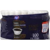 Kroger Coffee Filters, White