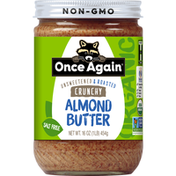 Once Again Almond Butter, Crunchy, Unsweetened & Roasted, Organic